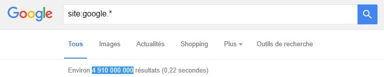 Google : 5 milliards de pages présentes dans l'index !