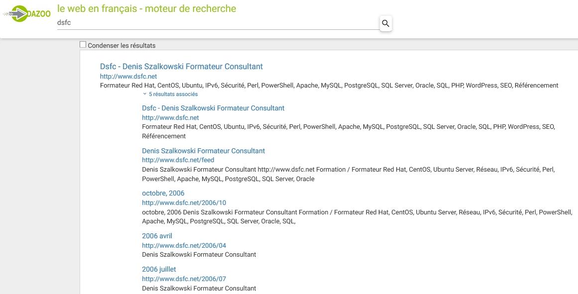 Le moteur de recherche français Dazoo