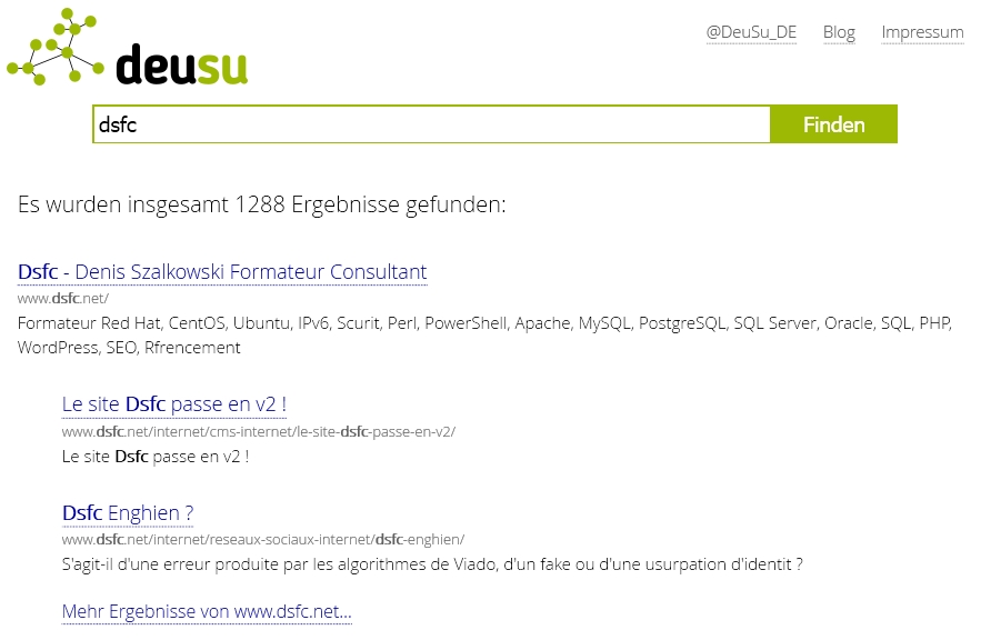 Le moteur de recherche allemand DeuSu