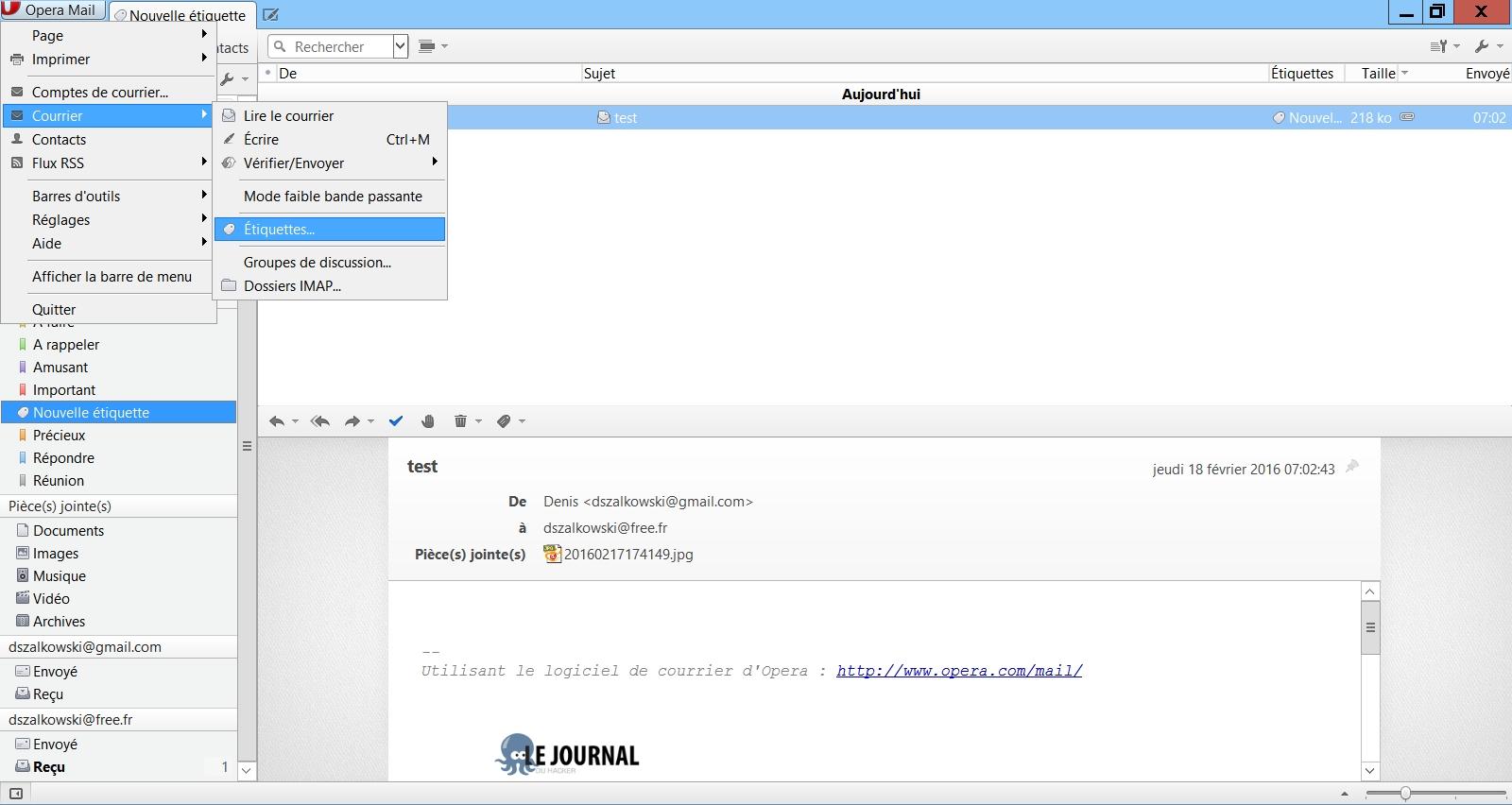 Opera Mail : c'est plutôt pas mal même si...