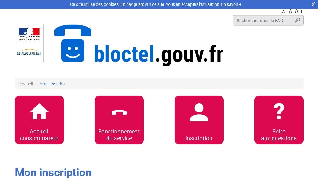 Bloctel pour éviter les sollicitations commerciales par téléphone