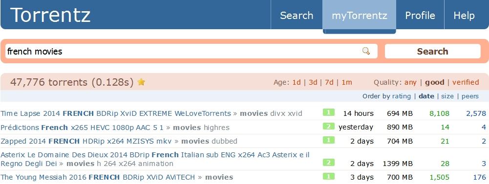 Torrentz.eu, alternative à KickAss Torrents