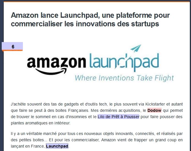 Retape pour Amazon Launchpad