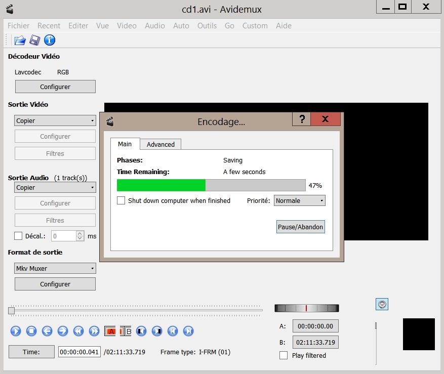 Fusionner deux fichiers AVI avec Avidemux