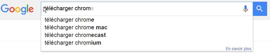 Google et Bing Suggest plébiscitent Chrome !