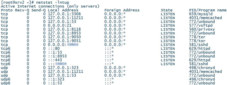 Liste des services réseaux en écoute sur Linux