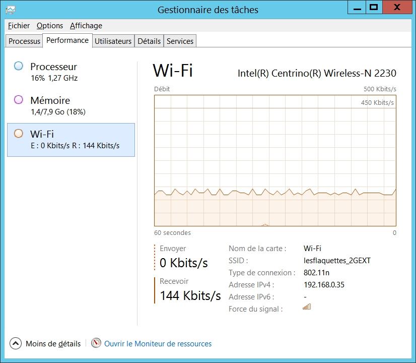 Mesurer la consommation de la bande passante sous Windows