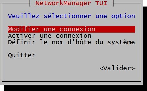 Configuration de l'interface réseau sous Linux Fedora, CentOS et Red Hat