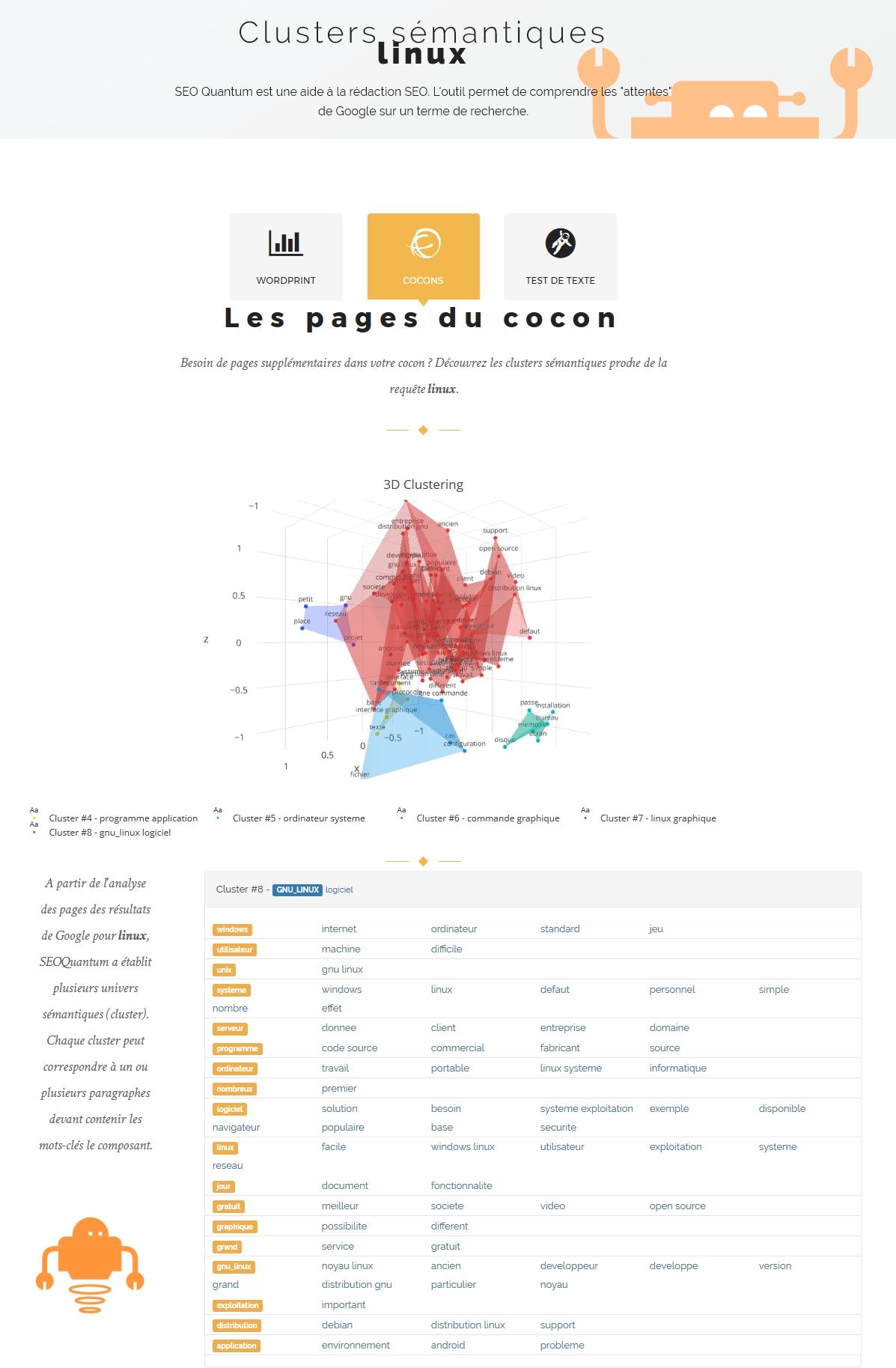 Cocons / Clusters sémantiques