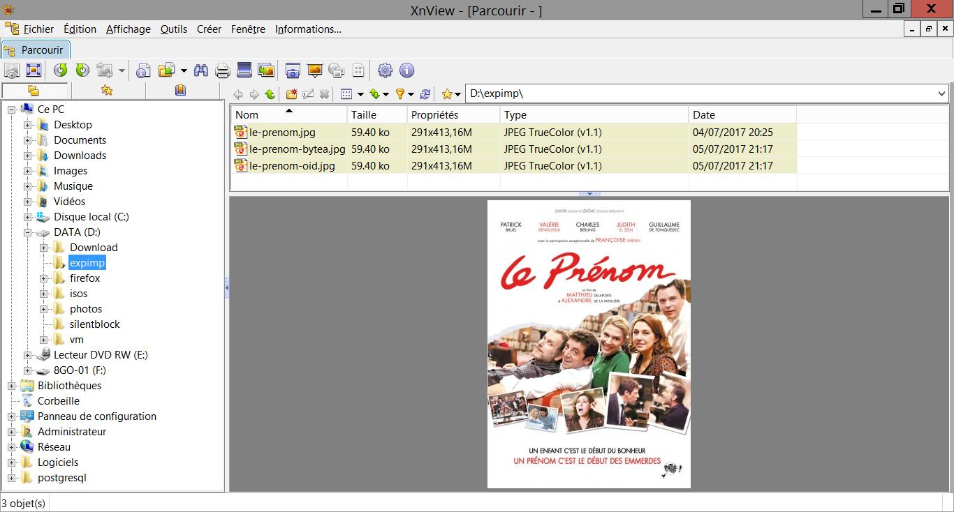 Import et export des champs BLOB dans PostgreSQL