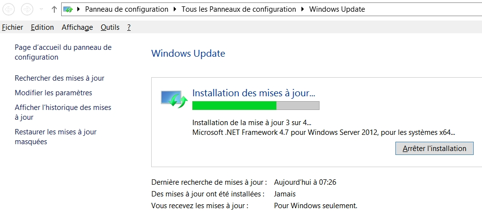 Windows Update à nouveau fonctionnel