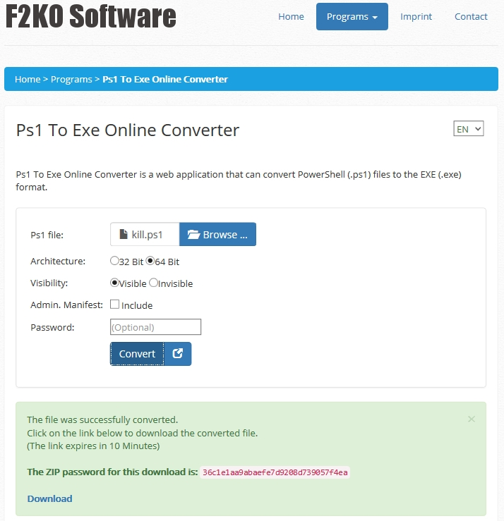 Ps1 To Exe Online Converter