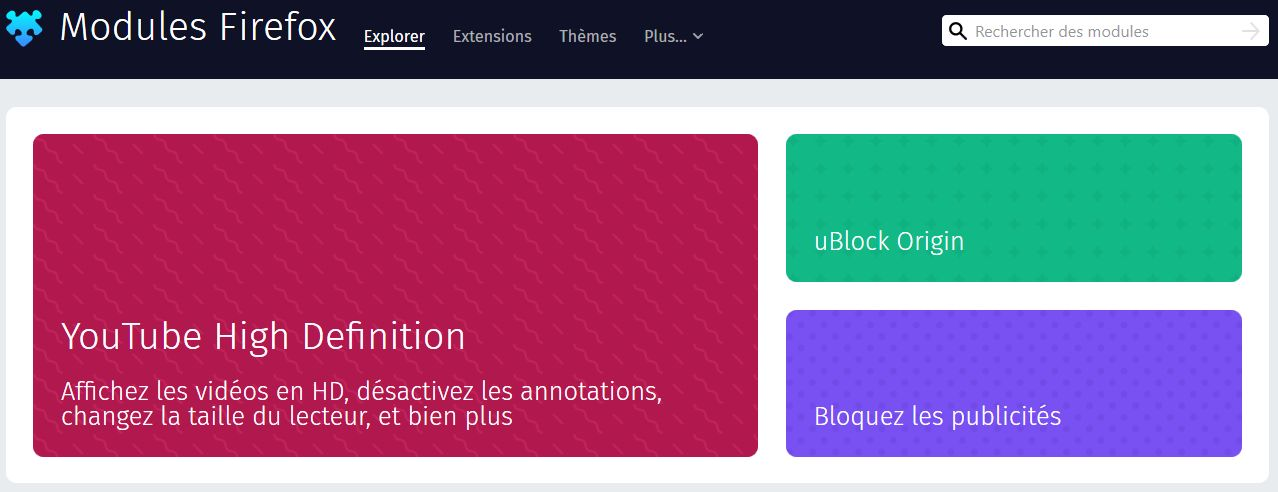 Mes WebExtensions compatibles avec Firefox 57+