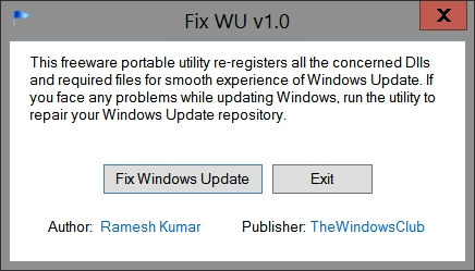 Repair Windows Update - Fix WU