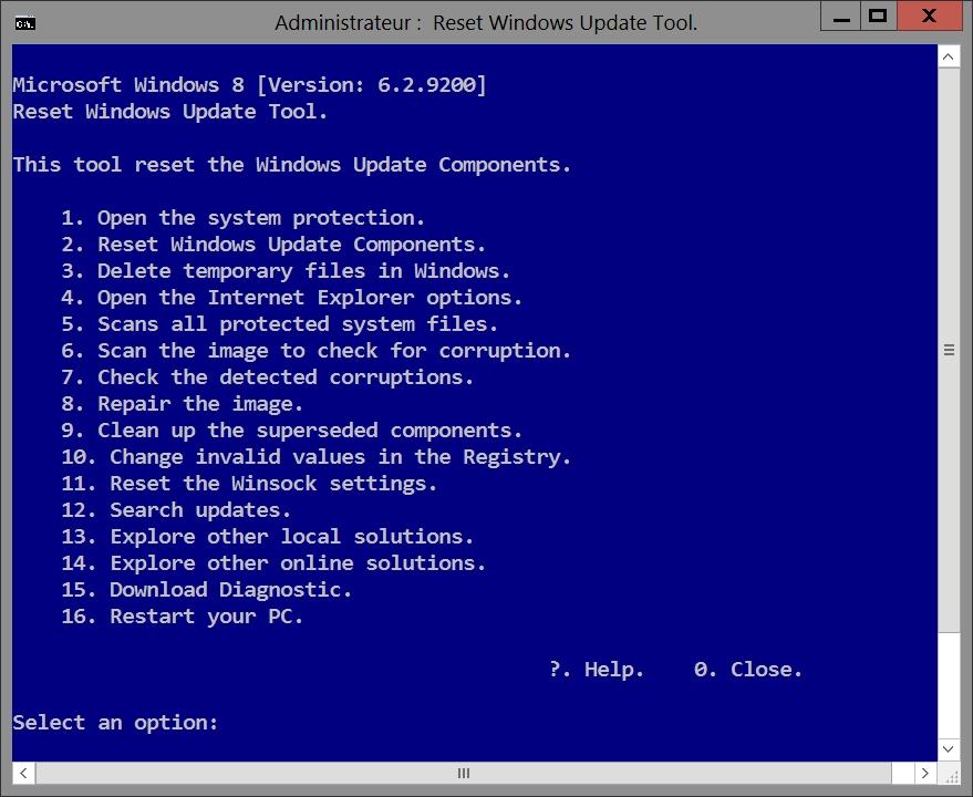 Réparer Windows Update en erreur