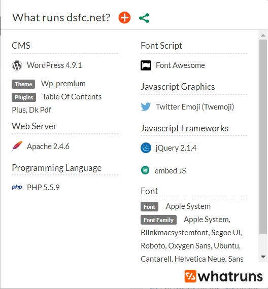 WhatRuns, extension pour Firefox