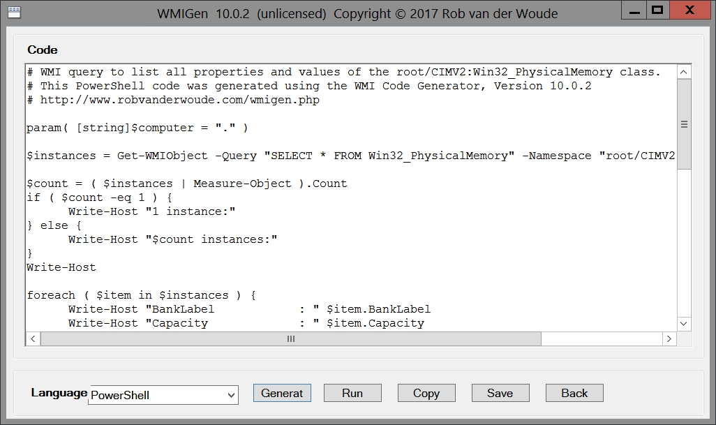 WMIGen, le nouveau Scriptomatic