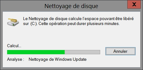 Nettoyage de vos fichiers Windows Update avec cleanmgr
