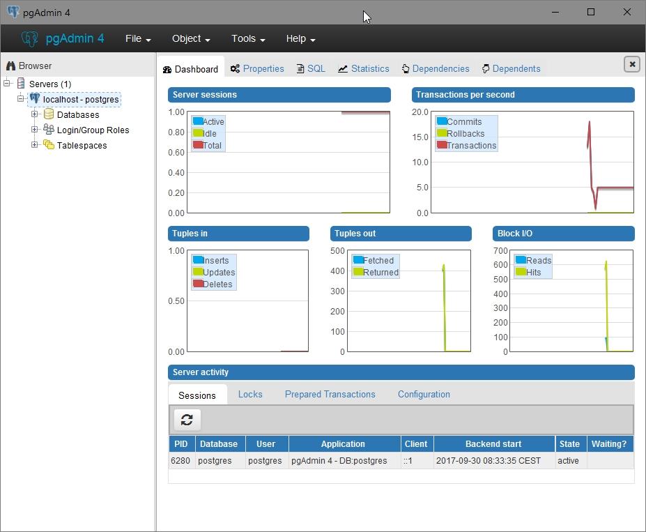 Baisser l'impact de l'utilisation de PgAdmin 4 sur PostgreSQL
