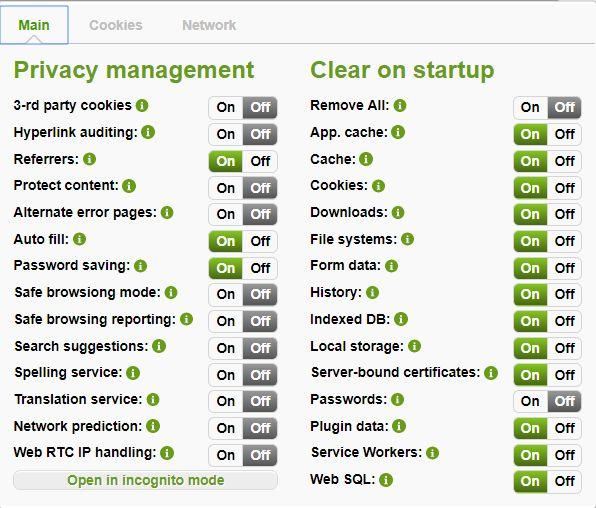 Privacy Manager , une extension qui protège la vie privée dans Chromium