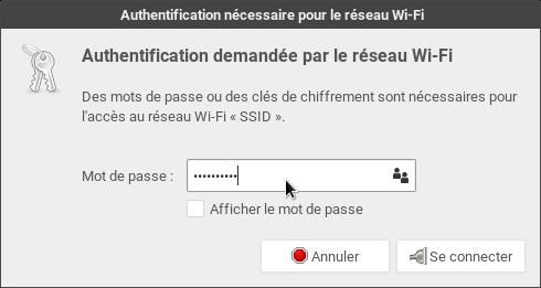 openSUSE > Wi-Fi > Clé de chiffrement WPA2