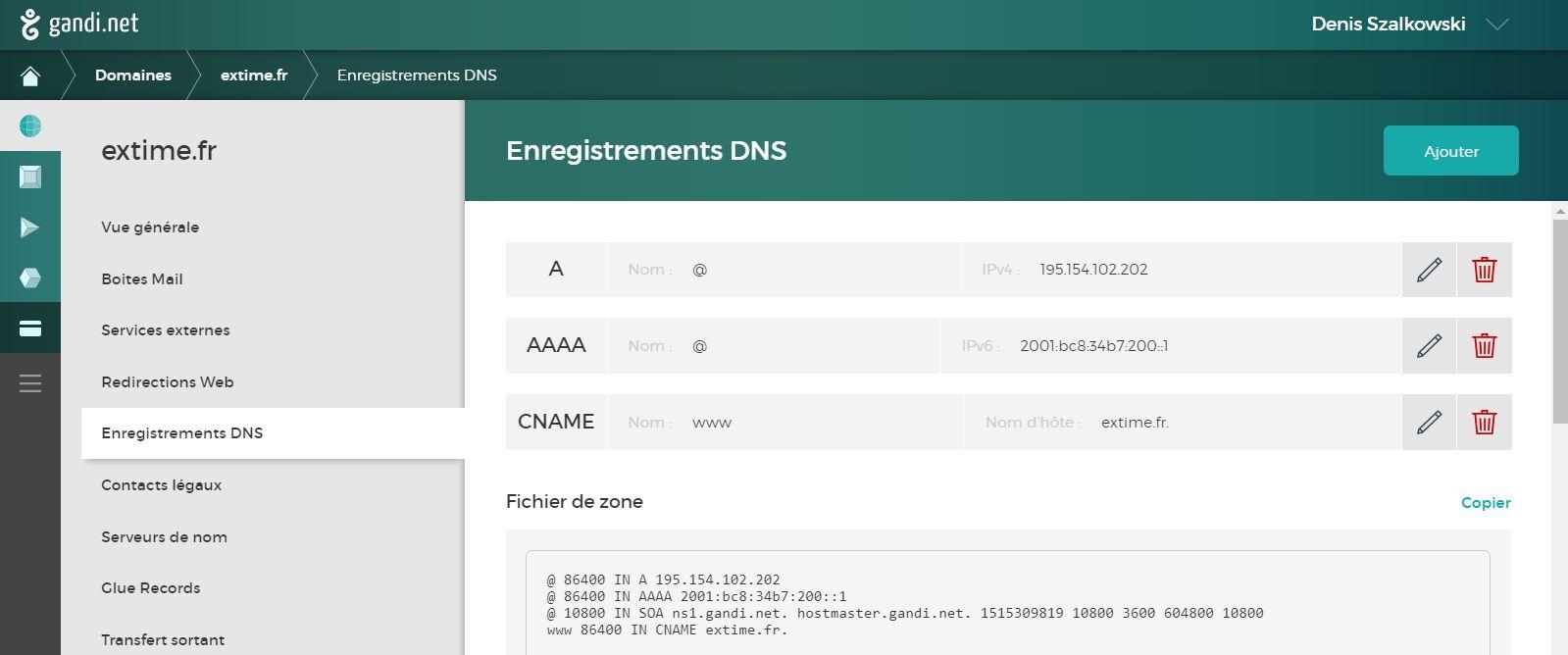 Enregistrements DNS