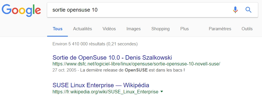 Sortie OpenSUSE 10