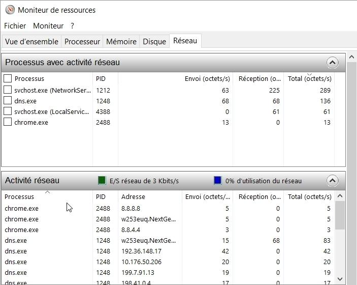 Chromium : sortie non sollicitée vers les DNS publics Google !