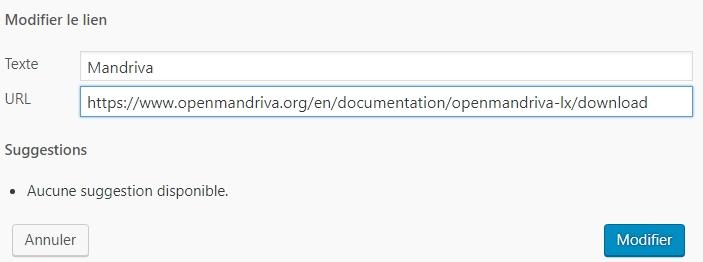 Broken Link Checker > Modifier le lien > URL