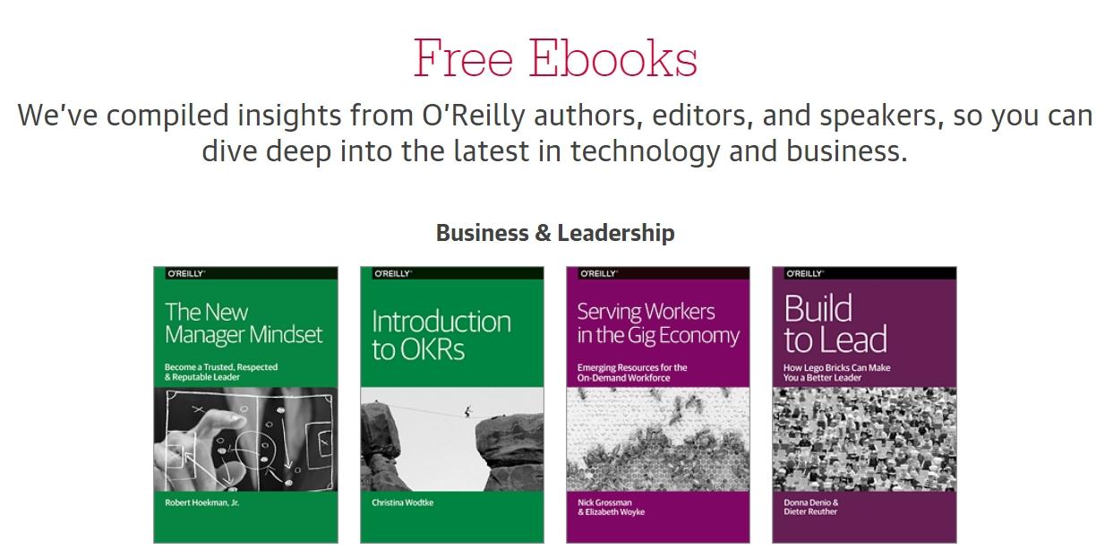 Chez O'Reilly, des livres téléchargeables gratuitement !