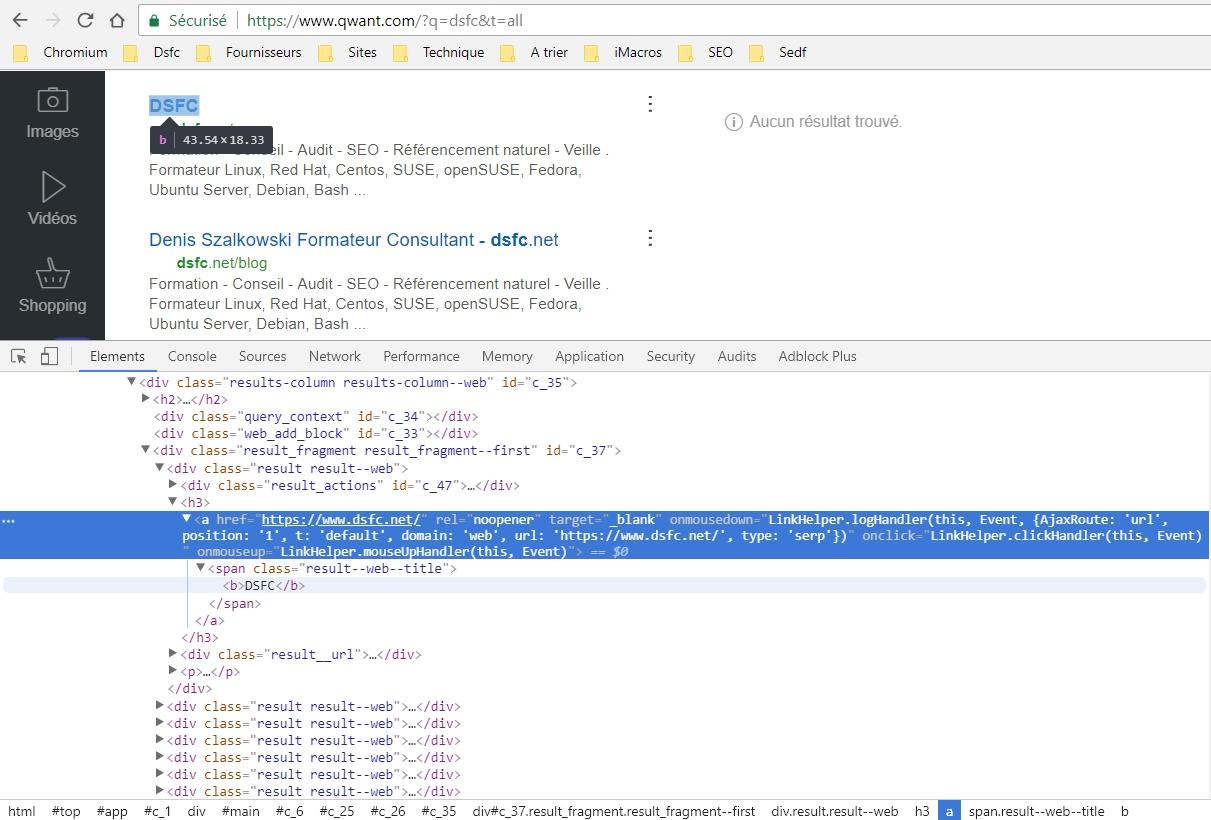 Qwant.com : tracking de l'expérience utilisateur