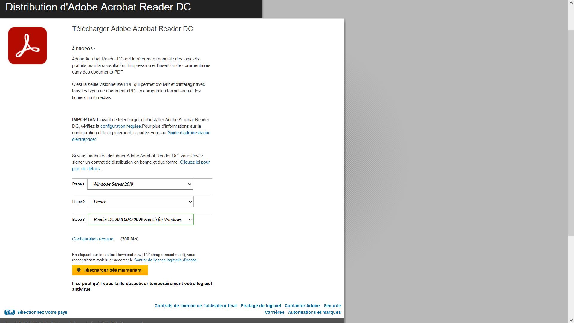 Télécharger Adobe Reader DC offline installer