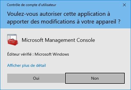 Exécution d'un script Windows sans besoin d'élever les privilèges
