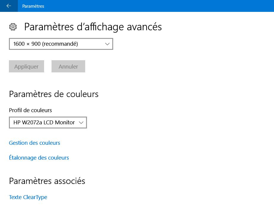 L'ajustement ClearType pour le lissage de vos polices de caractères sur votre écran
