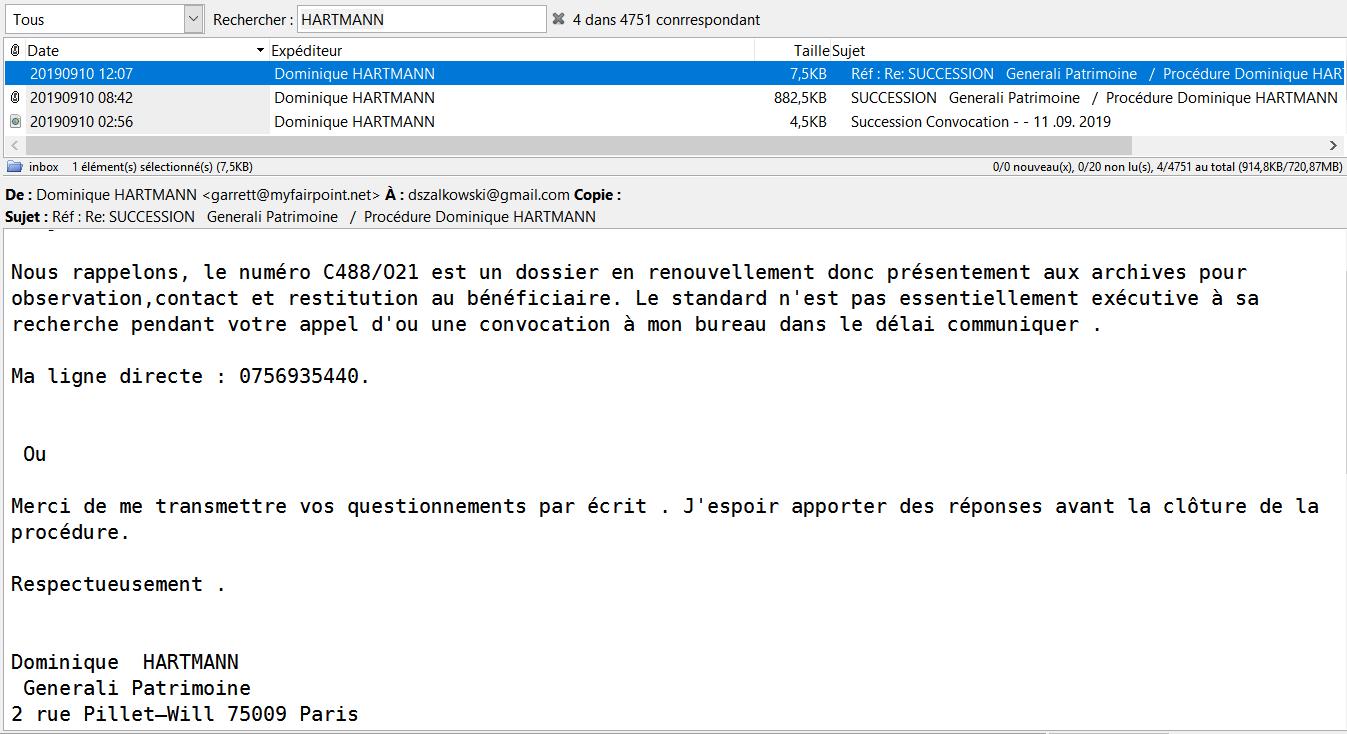 Attaque Phishing émanant de faux comptes Generali