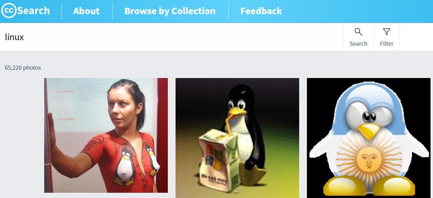 La recherche d'images sous licence Creative Commons
