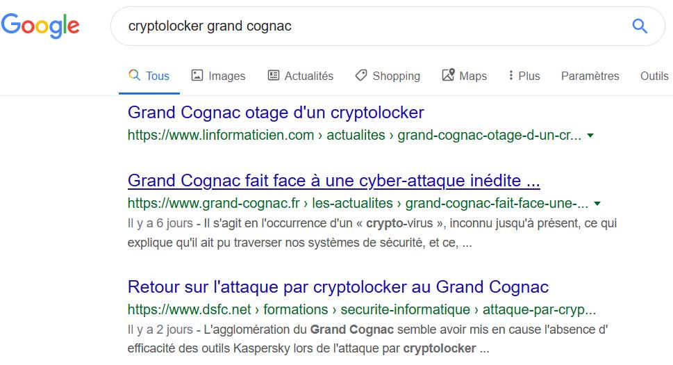"echerche sur ""cryptolocker grand cognac"" dans Google"