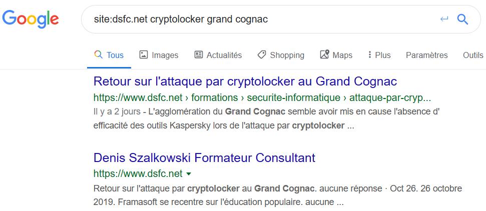Vérifiez l'indexation de vos articles dans Google