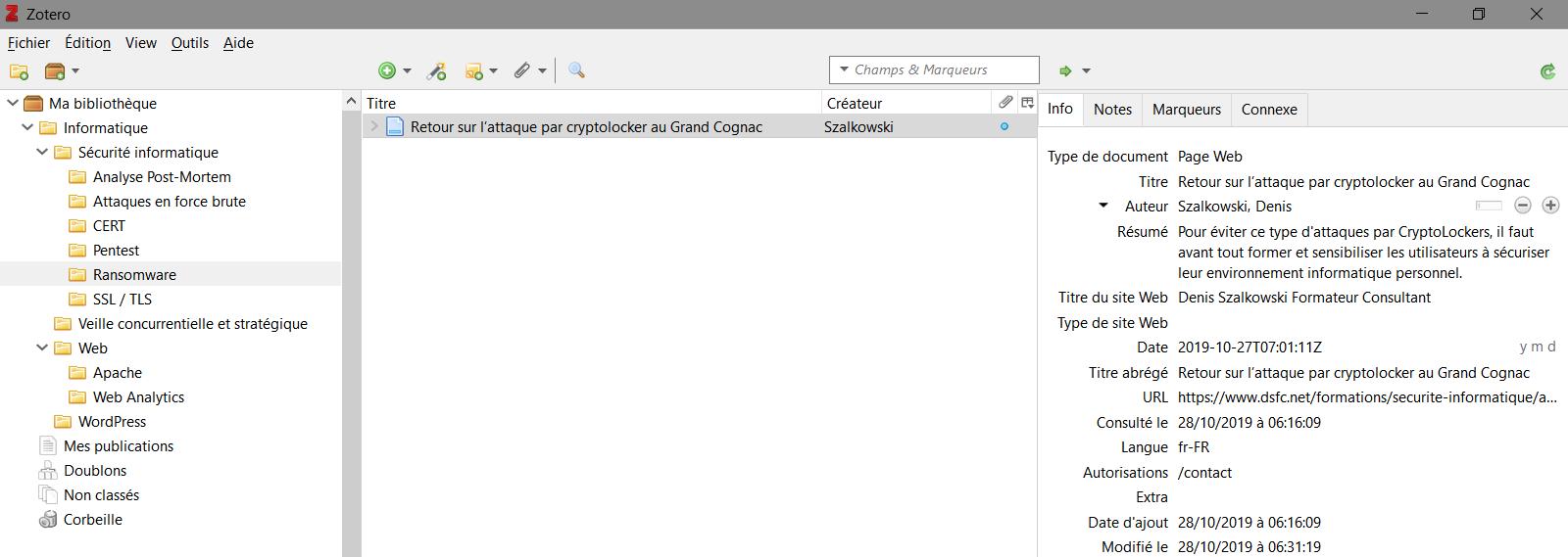 Zotero, un outil de bookmarking utile au SEO ?