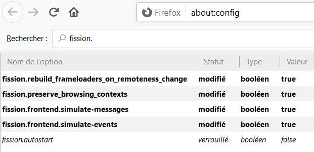 Firefox > about:config > fission.autostart > true