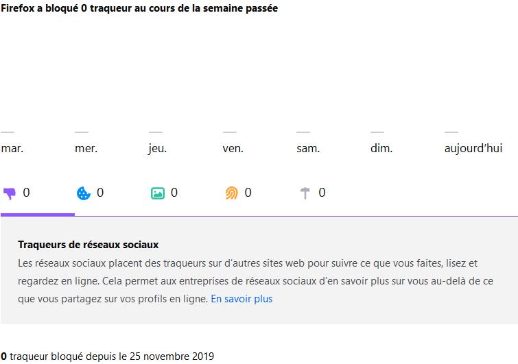 about:protections, une nouvelle console dans Firefox