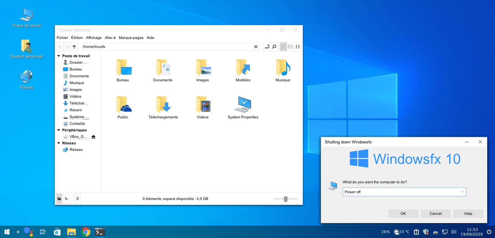 Windowsfx 10, c'est du Linux !