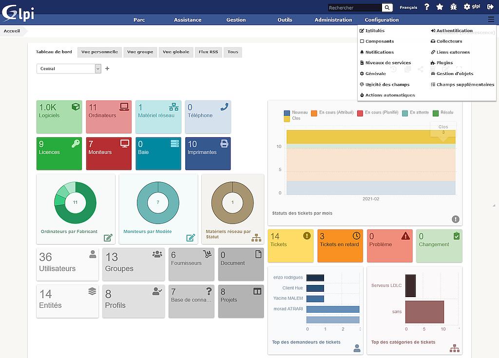 La nouvelle interface GLPI 9.5