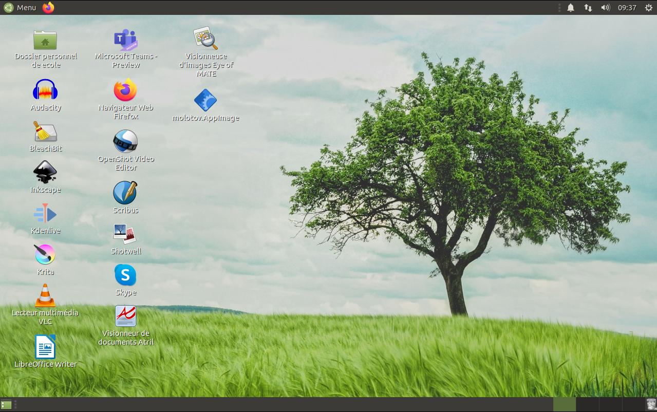Ubuntu Mate 20.10 pour l'école