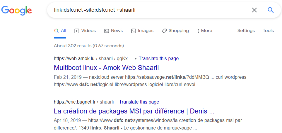 Google Liens Shaarli