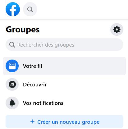 Créer un nouveau groupe Facebook