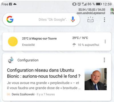 La gloire, grâce à Google Actualités sur Android