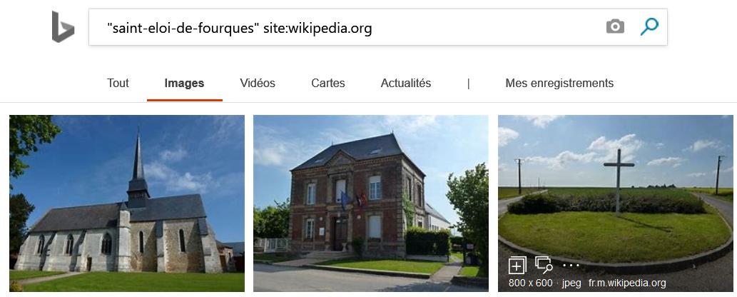 Saint-Eloi-de-Fourques dans Bing Images