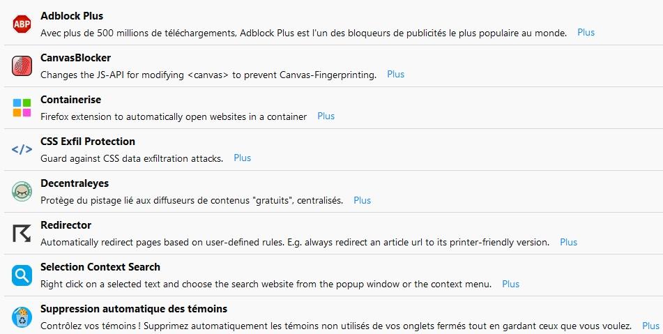 Les extensions Firefox Quantum indispensables