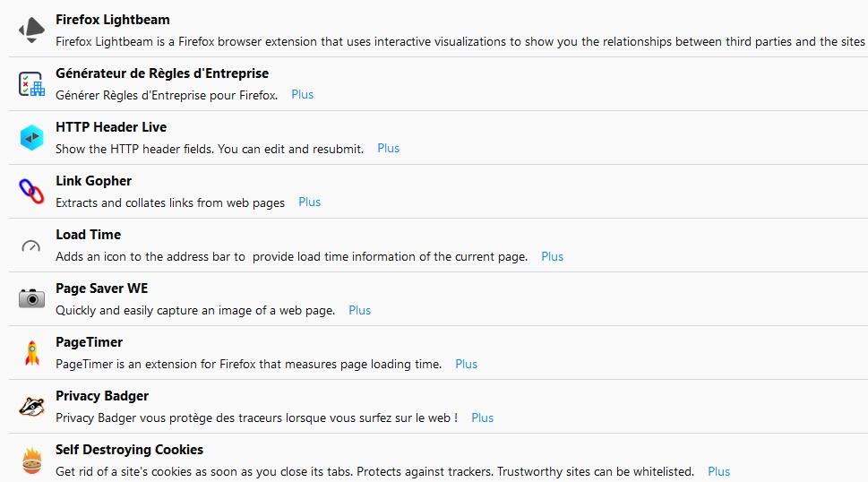 Les extensions Firefox Quantum utiles